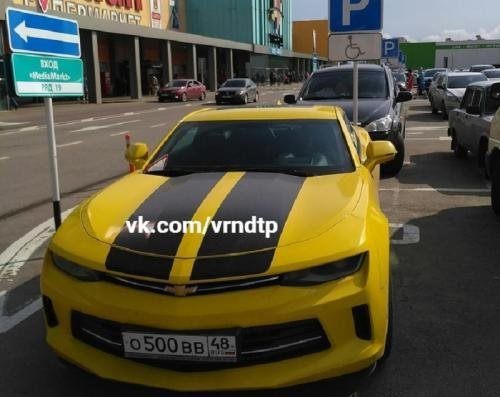 Хамская парковка липчанина-инвалида на Chevrolet Camaro взбесила воронежцев