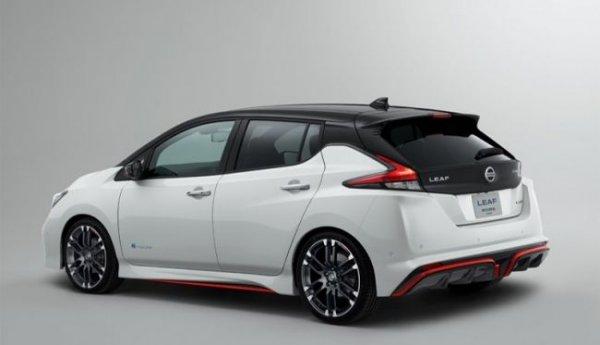 Nissan и Nismo представили обновленную версию электрокара Leaf