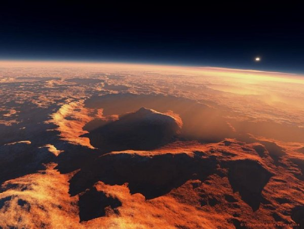 Ученые обнаружили под ледниками Марса озеро