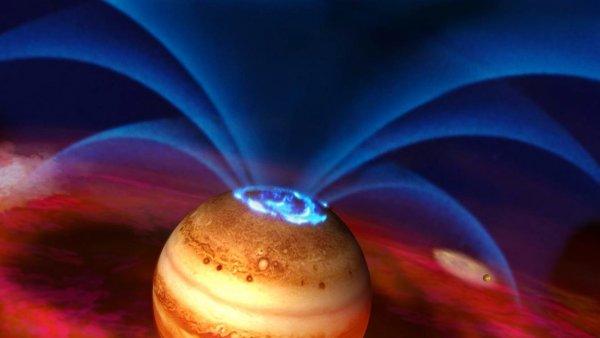 Ученые составили карту сложного магнитного поля Юпитера
