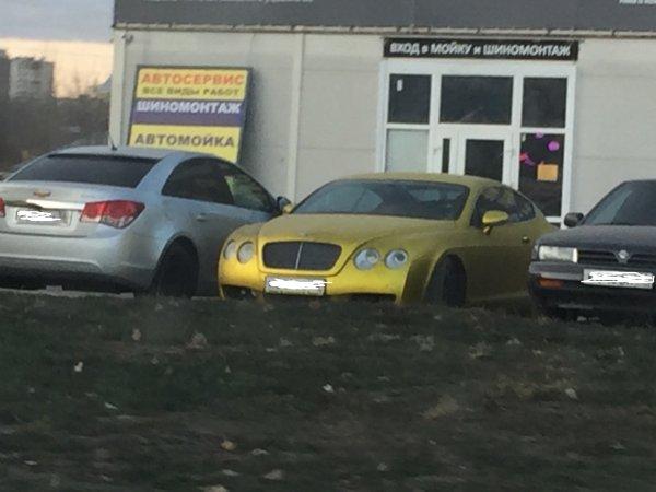 В Воронеже на шиномонтаже обнаружили золотой Bentley Continental GT