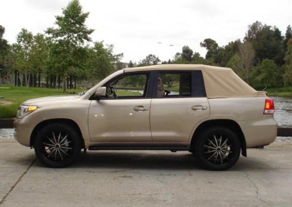 «Снесло крышу»: Шикарный кабриолет Toyota Land Cruiser показали на фото