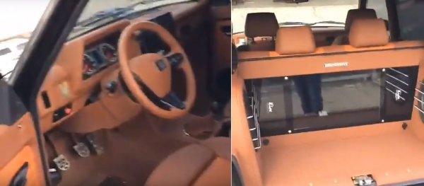 «Майбах отдыхает»: Самая роскошная LADA 4x4 с кожаным салоном и «духовкой» в багажнике удивила сеть