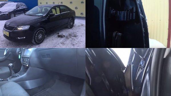 «Полная деформация кузова»: Состояние «убитой» Skoda Rapid под видом «новой» ужаснуло подборщика