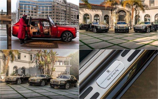Представлены спецверсии машин Rolls-Royce к году свиньи