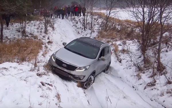 Дерзкие «паркетники»: Hyundai Tucson и KIA Sportage поборолись с внедорожниками на офф-роуде