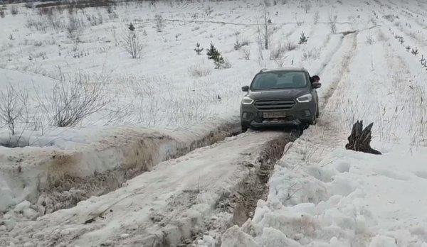 «Паркетники» лучше «Нивы»? Ford Kuga и Land Rover Freelander испытали на снежной целине