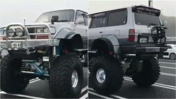 «Залезть только со стремянки»: «Монструозный» Toyota Land Cruiser с 1,5-метровым клиренсом поразил сеть