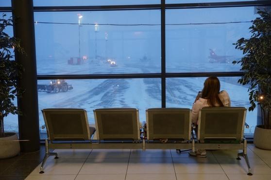Сильнейший туман парализовал работу воздушной гавани