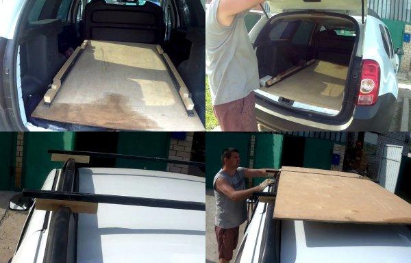 И пол, и багажник: Как листом фанеры усовершенствовать Renault Duster показал владелец