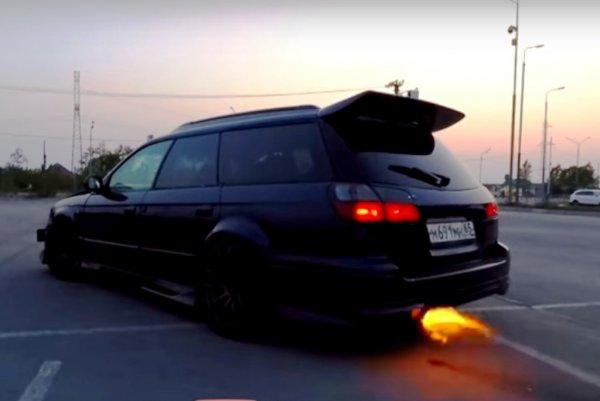 «Где там ваши EVO?!»: «Злой» Subaru Legacy GT на 400 «кобыл» показали в сети