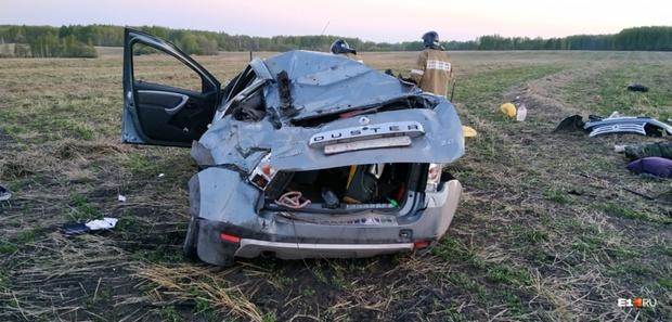 Тюменец заснул за рулем и разбил свой внедорожник: фото