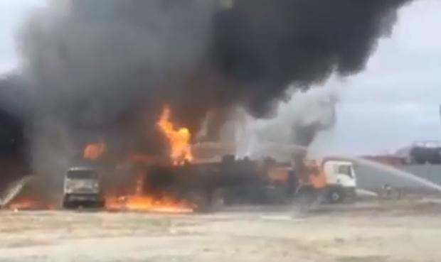 Стала известна предварительная причина пожара в Ноябрьске: видео