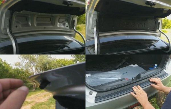 На один «косяк» меньше: Владелец LADA Vesta рассказал о доработке багажника седана