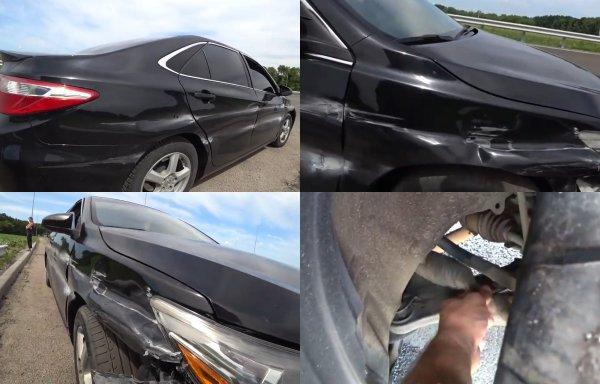 Отказал руль на трассе: О неожиданной поломке Toyota Camry рассказал владелец