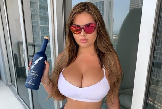 Российская супермодель с бутылкой в руке набрала за ночь 100 тысяч лайков