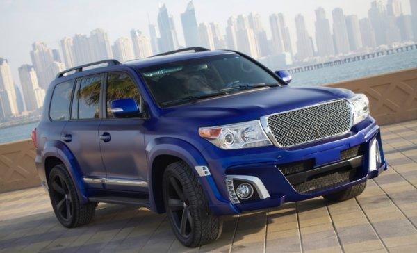 «50 оттенков синего»: Яркий тюнингованный Toyota Land Cruiser показали в сети