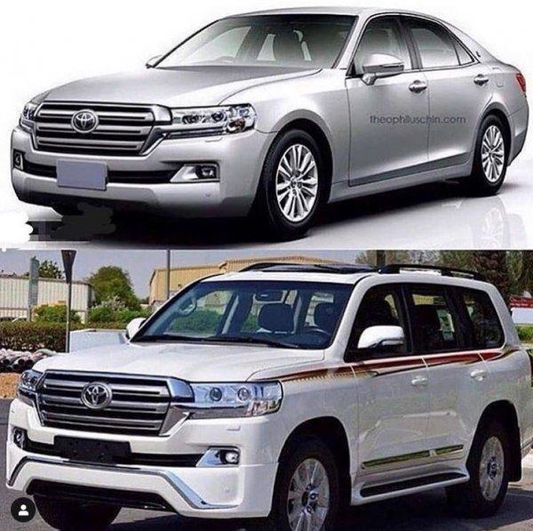 «Крузак»-седан? Необычный концепт Toyota Land Cruiser 200 удивил сеть