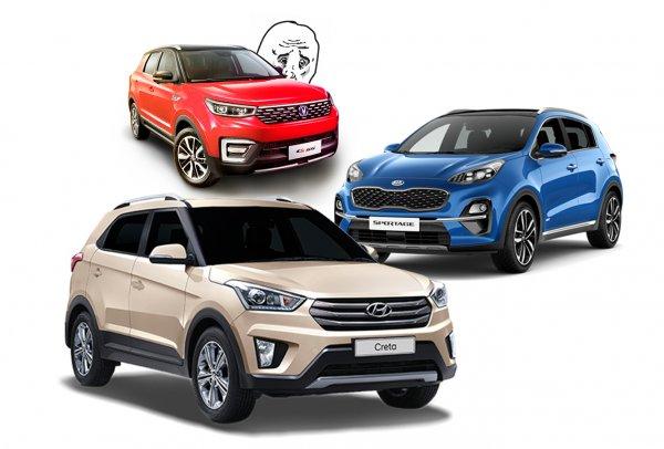 Хороший, но бессмысленный: Почему россияне не отвернутся от Hyundai Creta и KIA Sportage в пользу Changan CS55