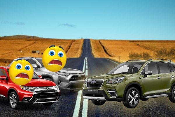 Битва японских «пепелацев»: Как Subaru Forester «рвет» Toyota RAV4 и Mitsubishi Outlander
